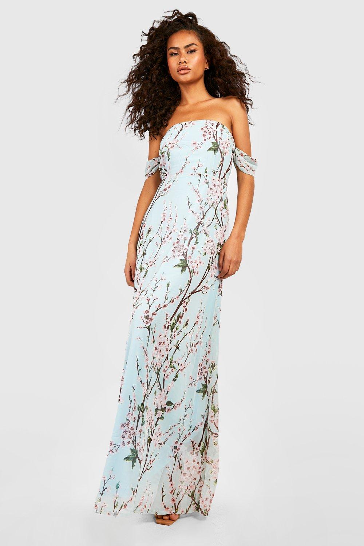 b219c7d953a Floral Off The Shoulder Maxi Dress
