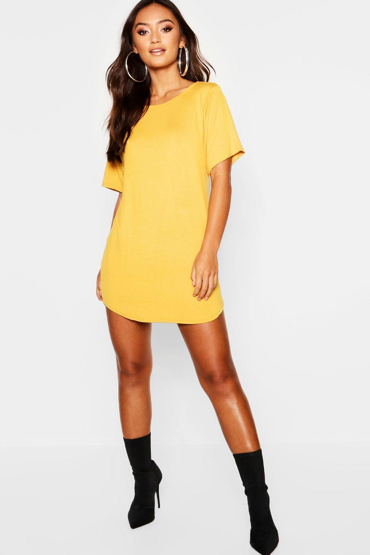 9de23b35bb294 Petite Curved Hem T-Shirt Dress - Female First Shopping