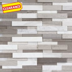 Clearance! Gray and White Honed Marble Panel Ledger
