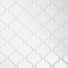 Arabesque Lantern White Porcelain Mosaic