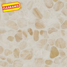 Clearance! Onyx Honed Flat Pebble Mosaic