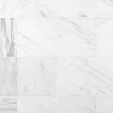Aurora White Polished Marble Tile