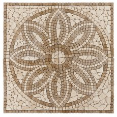 Florentine Tumbled Travertine Medallion