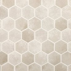 Gray Concrete Matte Hexagon Porcelain Mosaic