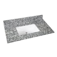 Kendall Gray Granite 37 in. Vanity Top