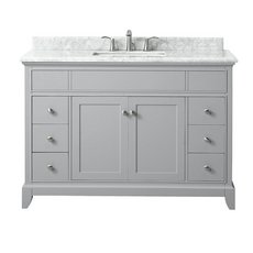 Aurora 49 in. Vanity with Carrara Marble Top