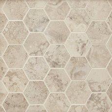 Tarsus Almond II Hexagon Porcelain Mosaic