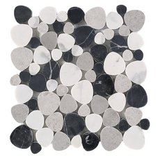 Lovina Beach Honed Marble Pebble Mosaic