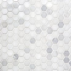 Carrara White Hexagon Marble Mosaic
