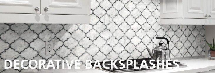 White Stone Backsplash Kitchen stone backsplashes   floor & decor
