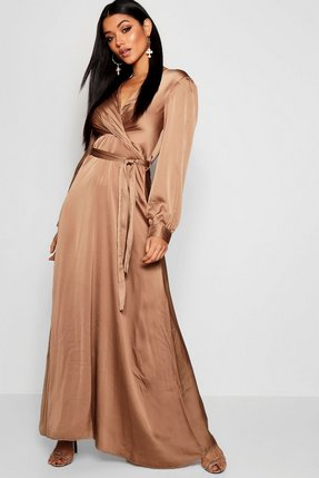 Oh My Love Wrap Front Maxi Dress With Belt Shop Oh My Love Wrap