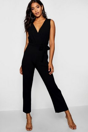 da1603b10b4 asos jumpsuit with peplum and pleated leg detail blue - Shop asos ...