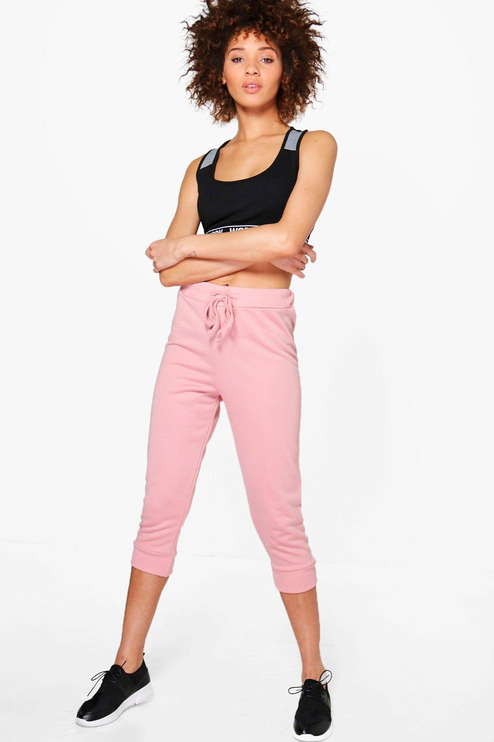 Product photo of Rose fit crop running joggers