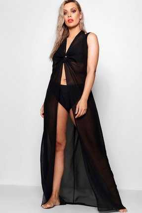 Read more about Plus o ring full length beach maxi dress