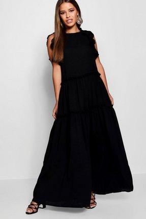cd814a20e0b asos ruffle and tiered off shoulder maxi dress - Shop asos ruffle ...