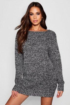 6707dc68d17 marl knit jumper black - Shop marl knit jumper black online - Latest ...