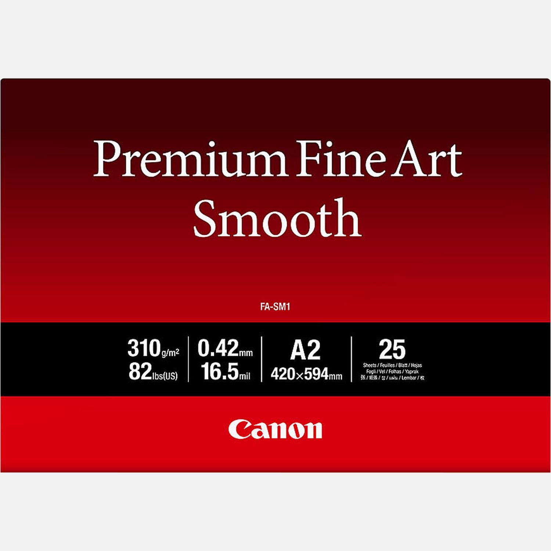 Papier A2 beaux-arts lisse Premium Canon FA-SM1 – 25 feuilles