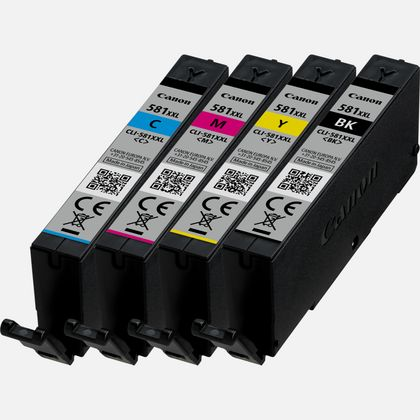 Multipack de cartouches d'encre à haut rendement Canon CLI-581XXL BK/C/M/Y