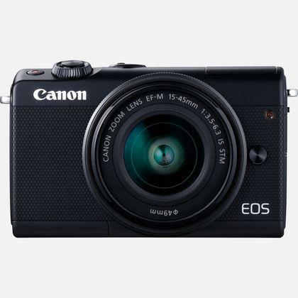 Canon EOS M100 noir, objectif EF-M 15-45mm f/3.5-6.3 IS STM et 50 Go d'espace de stockage Irista