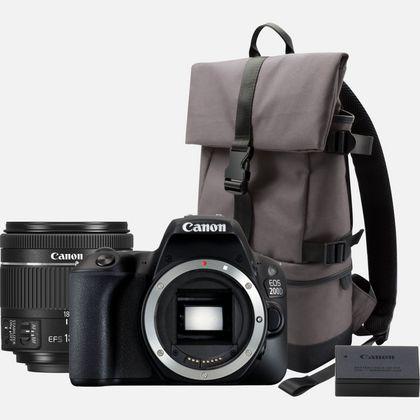 Canon EOS 200D noir + objectif 18-55mm f/4-5.6 IS STM noir + sac BP13 + batterie LP-E17