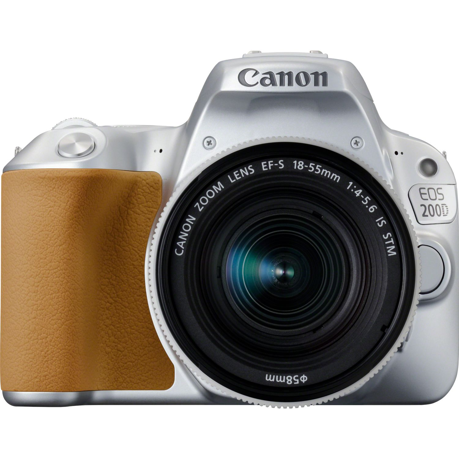 Canon EOS 200D Silber + EF-S 18-55mm 1:4-5,6 IS STM Objektiv Silber ...