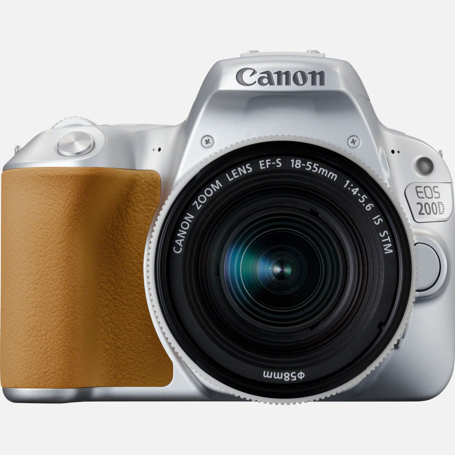 Image of Canon EOS 200D Silver and EF-S 18-55mm f/4-5.6 IS STM Lens Silver