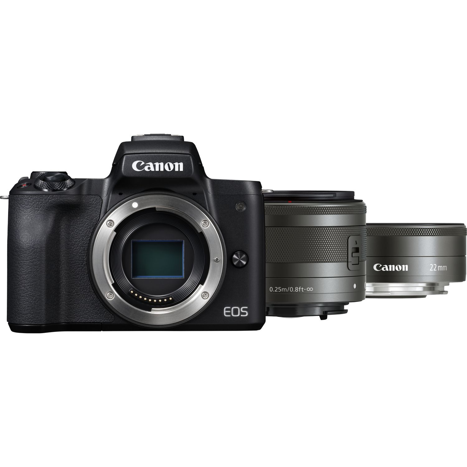 Buy Canon Eos M50 Body Ef M 15 45mm Is Stm 22mm F 2 28mm 35 Macro Magnify Image