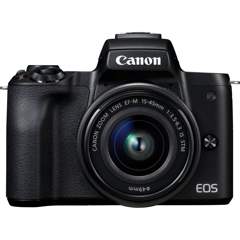 Buy Canon EOS M50 Black + EF-M 15-45mm IS STM Lens Black in Wi-Fi ...