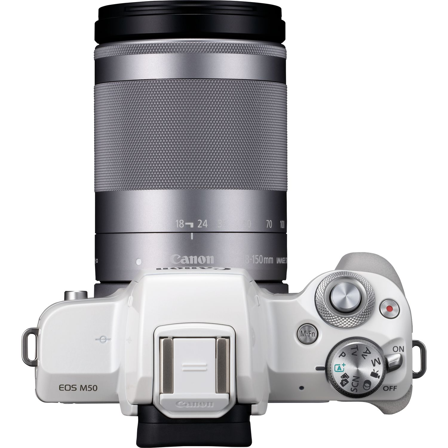 Buy Canon EOS M50 White + EF-M 18-150mm IS STM Silver in Wi