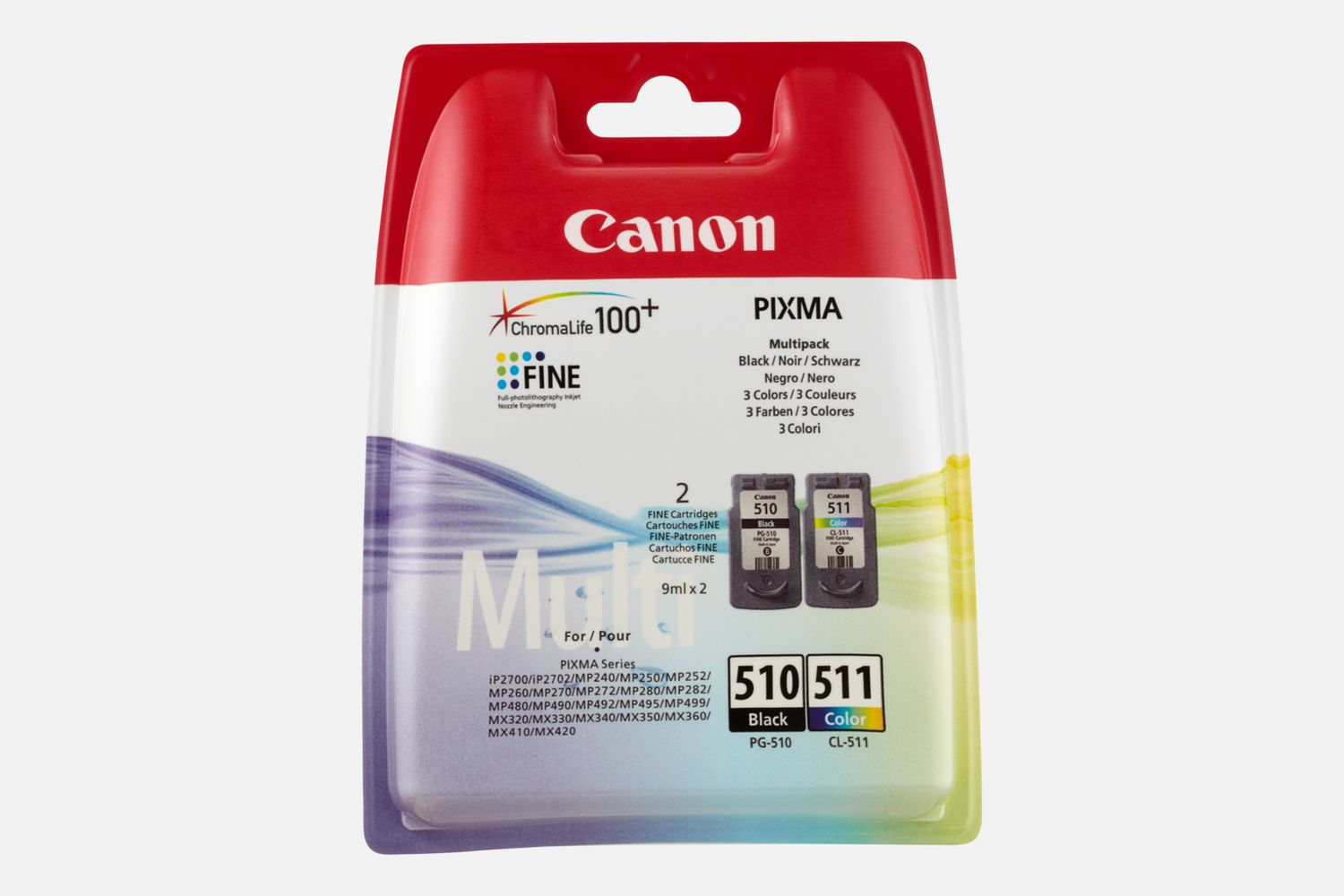 buy canon pg 510 cl 511 bk c m y ink cartridge multipack. Black Bedroom Furniture Sets. Home Design Ideas