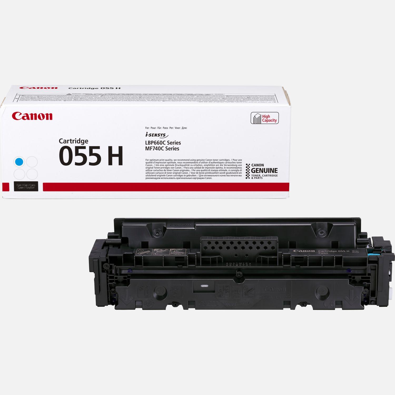 Canon 055 H tonercartridge met hoge capaciteit, cyaan