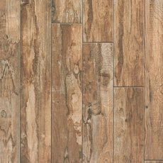 Salvage Brown Wood Plank Porcelain Tile