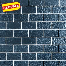 Clearance! Midnight Blue Glass Tile