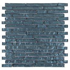 Dream Midnight Blue Linear Glass Mosaic