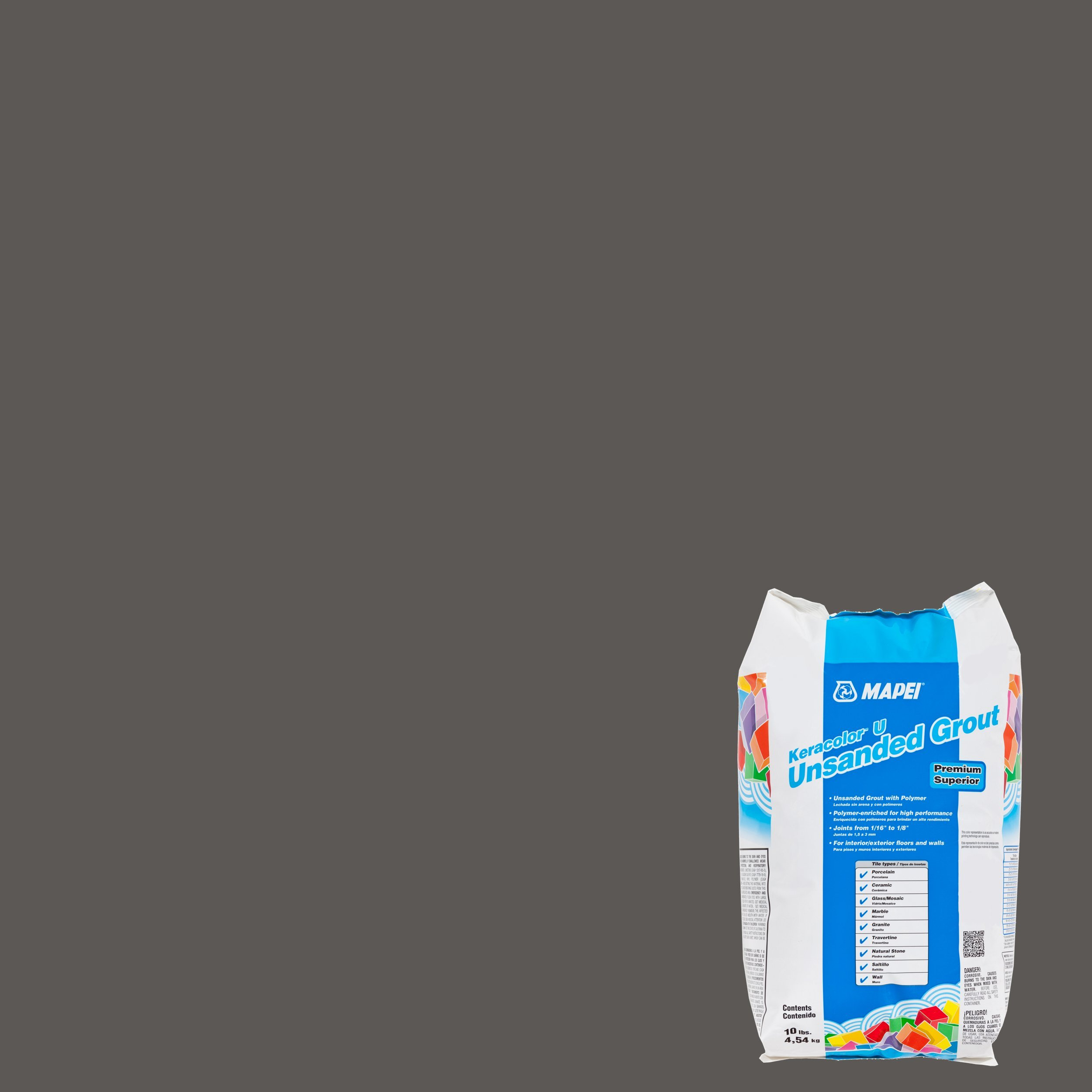 Mapei 09 Gray Keracolor Unsanded Grout 10lb 100036052
