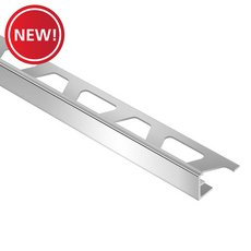 New! Schluter-Jolly Edge Trim 1/4in. in Polished Chrome Anodized Aluminum