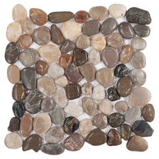Multi Round Gloss Pebble Stone Mosaic
