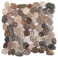 Multi Round Gloss Pebblestone Mosaic