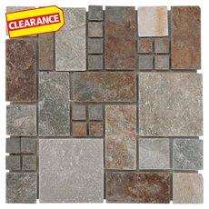 Clearance! Adirondack Pattern Light Decorative Slate Mosaic