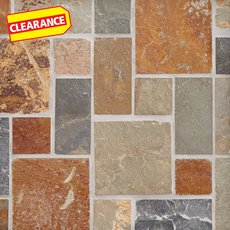 Clearance! Adirondack Pattern Multi Decorative Slate Mosaic