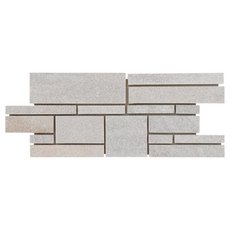 Olympic White Linear Slate Mosaic