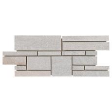 Olympic White Random Decorative Linear Slate Mosaic