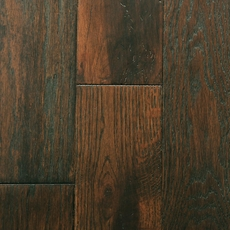 Mocha Oak Wire Brushed Solid Hardwood
