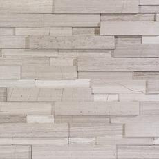 Valentino White Interlocking Honed Panel Marble Mosaic