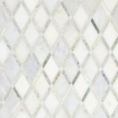 Carrara White Caribbean Green Diamond Marble Mosaic