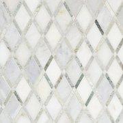 Carrara White Caribbean Green Marble Mosaic