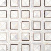 Valentino White Square Polished Marble Mosaic
