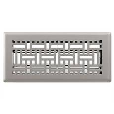 Satin Nickel Wicker Floor Register