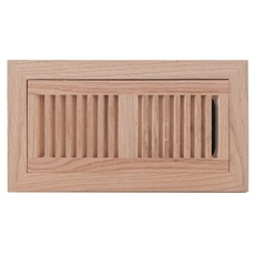 Red Oak Flush Mount Floor Register