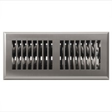 Satin Nickel Louvered Prefinished Floor Register